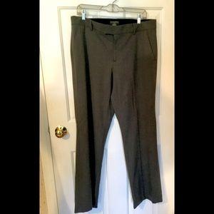 Banana republic dress lined 12 long trousers gray